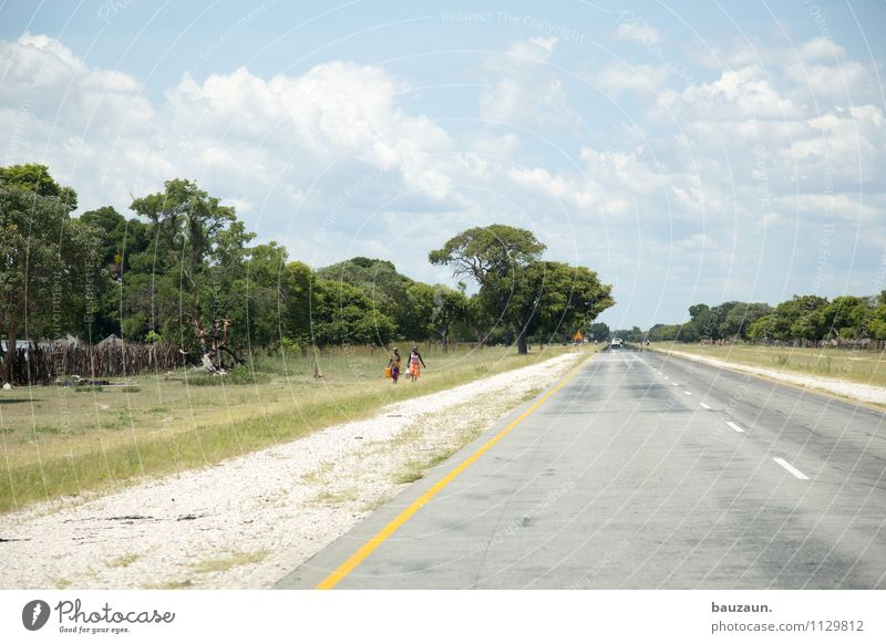 left-hand traffic. Vacation & Travel Tourism Far-off places Summer Human being Nature Landscape Earth Sky Clouds Beautiful weather Tree Grass Bushes Caprivi