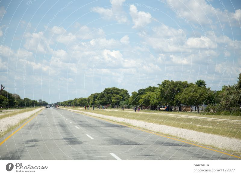 right-hand traffic. Vacation & Travel Tourism Trip Far-off places Human being Environment Nature Landscape Sky Clouds Summer Beautiful weather Tree Grass Bushes