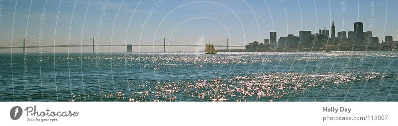 Bay Bridge San Fran California Ocean Column Glittering Morning San Francisco San Franciso Skyline overstretch Water Street Oakland Bay Bridge