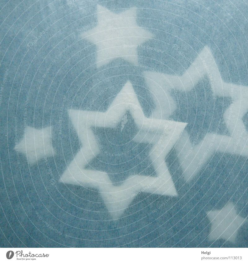 Blue Christmas & Advent White Winter Small Together Lie Large Star (Symbol) Corner Decoration Point Delicate Jewellery Edge