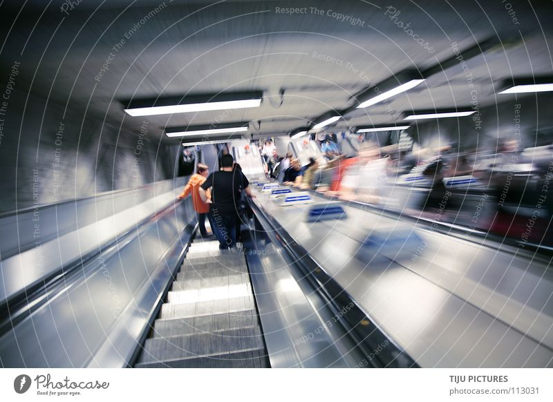 Wait Underground Dynamics Train station London London Underground Glide Escalator