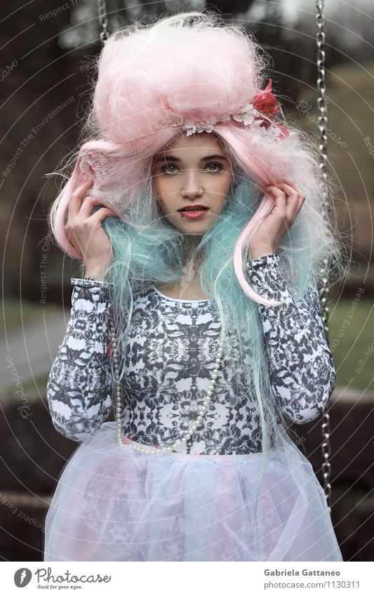 Scandalous Princess Feminine Young woman Youth (Young adults) Woman Adults 1 Human being 18 - 30 years Fashion Cloth Hair and hairstyles Long-haired Wig Exotic