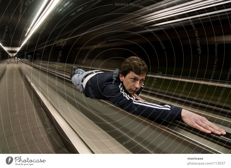 escalator surfing Flexible Driving Gesture Swing Change Current Transport Speed Urgent Short Abrupt Light Night Night shot Past Long exposure Collage
