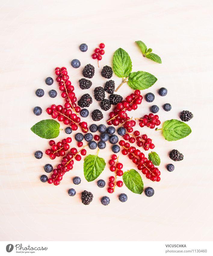 Summer Berries Composing Food Fruit Herbs and spices Nutrition Breakfast Organic produce Vegetarian diet Diet Juice Lifestyle Style Design Alternative medicine