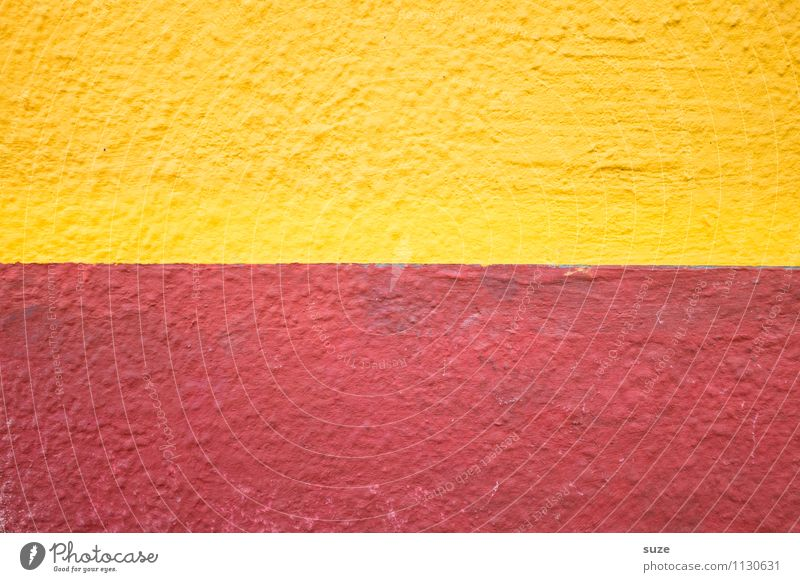 Colour Red Yellow Wall (building) Style Wall (barrier) Background picture Line Art Facade Design Arrangement Simple Stripe Sign Illustration