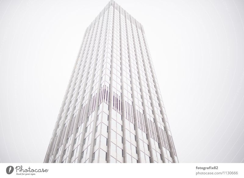 Sky White House (Residential Structure) Architecture Building Facade High-rise Tall Large Concrete Tower Infinity Manmade structures Skyline Bank building Frankfurt