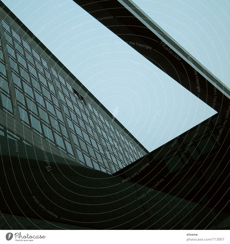 ::SHADOWTRICKS:: Complex Concrete Building Dark Branched Window Facade High-rise Gray Black Work and employment Profession Stress Haste Relaxation Stuttgart