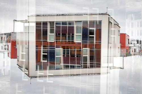 construction House (Residential Structure) Sky Clouds Manmade structures Building Architecture Facade Concrete Glass Exceptional Hip & trendy Uniqueness Modern