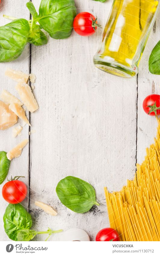 cook spaghetti, ingredients Food Vegetable Dough Baked goods Herbs and spices Cooking oil Nutrition Lunch Organic produce Vegetarian diet Diet Italian Food