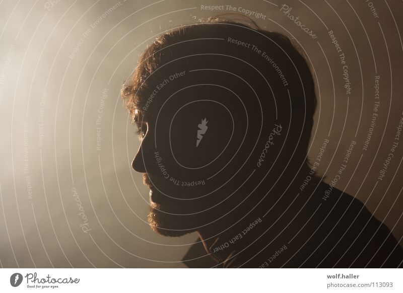 Man Beautiful Face Head Brown Fog Smoke Facial hair Thought Wanderlust