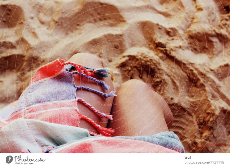 More sea please ! Vacation & Travel Summer Beach Ocean Swimming & Bathing Happy Naked Natural Knee Legs Towel Sandy beach Colour photo Exterior shot
