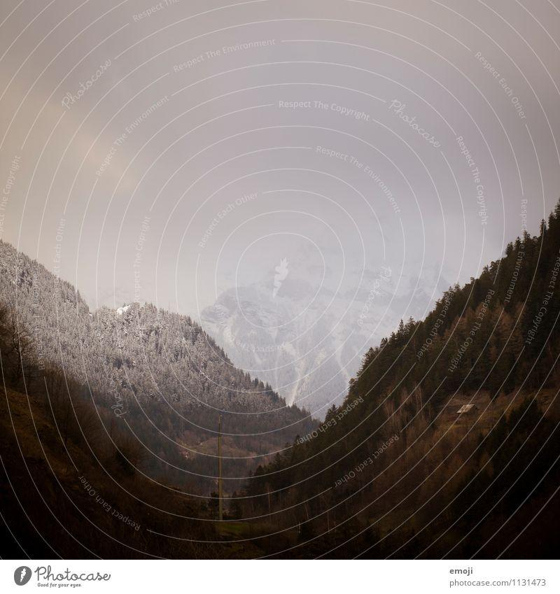 Nature Landscape Dark Environment Mountain Autumn Natural Fog Alps Switzerland