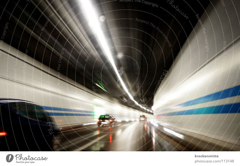 Hunting for Lost Time II Haste Tunnel Highway Switzerland Driving Rear light Vehicle Overtake Median strip Transport Commuter Car driver Home Speed Speed limit