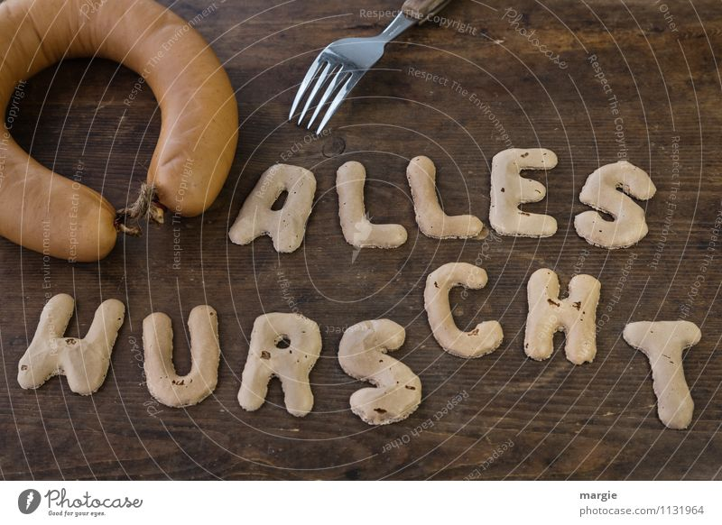 The letters ALL SWEETS on a rustic wooden board with a sausage and fork Sausage Nutrition Breakfast Lunch Dinner Buffet Brunch Fork Healthy Overweight Diet