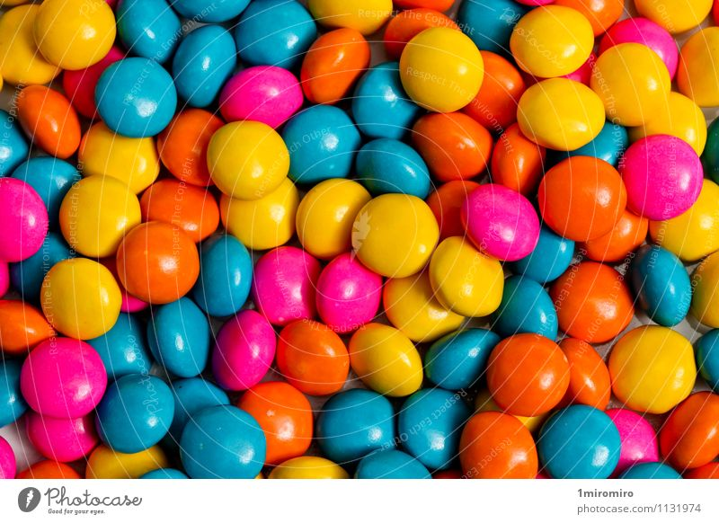 Colored candy Blue Colour Yellow Food Pink Snack Tasty