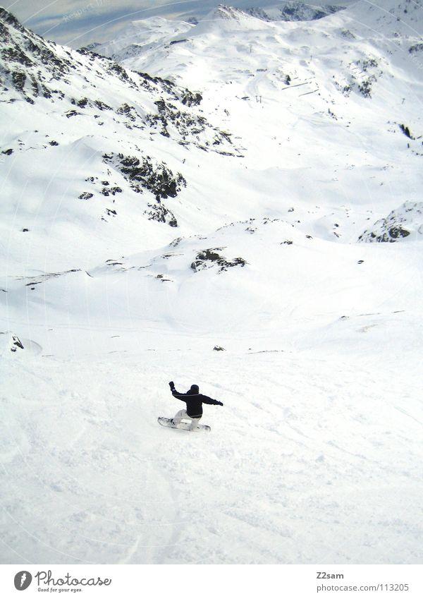Nature Man White Loneliness Landscape Calm Joy Winter Black Cold Mountain Movement Snow Sports Line Rock