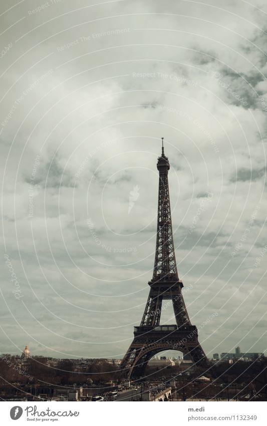 Bonjour Paris Town Capital city Tourist Attraction Landmark Eiffel Tower Esthetic Colour photo Exterior shot Day