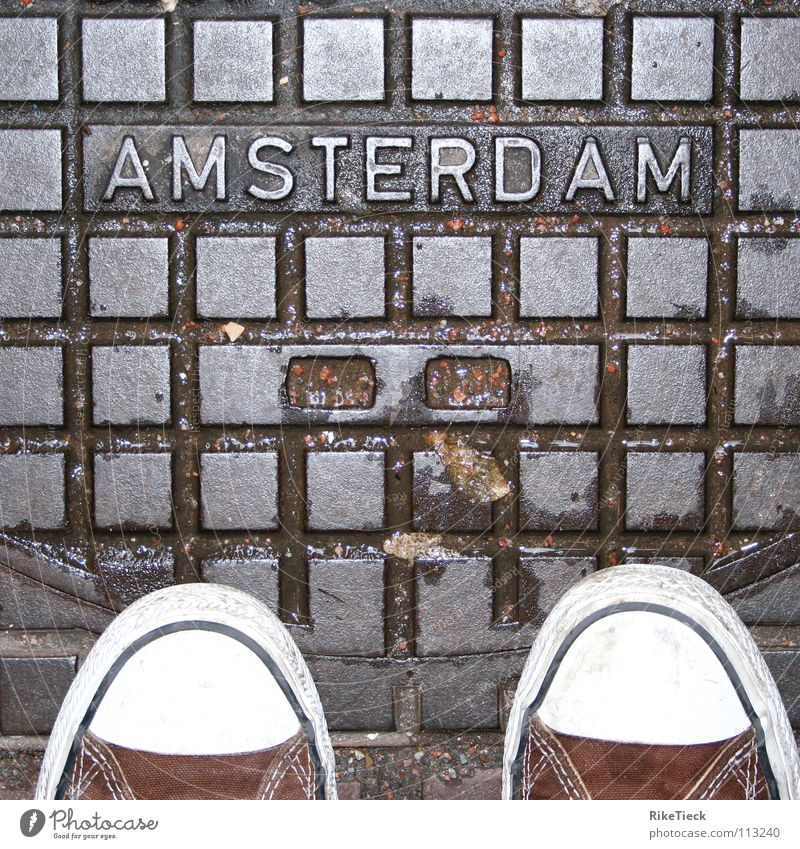 A city to love!!! Chucks Amsterdam Gully Footwear Wet Square Town Detail Rain Checkered