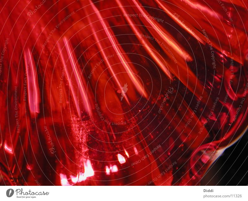 Red Glass Vase Photographic technology