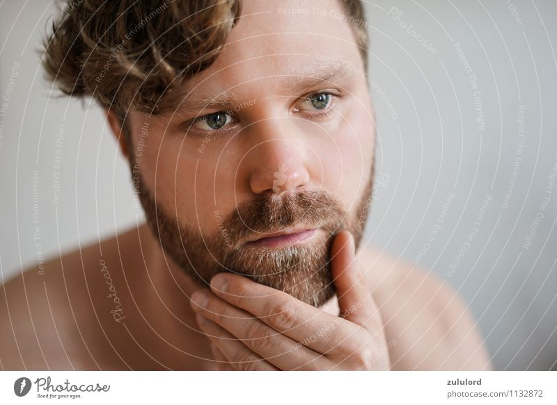 With beard to success Beautiful Skin Face Bathroom Masculine Man Adults Head Facial hair 1 Human being 18 - 30 years Youth (Young adults) Blonde Red-haired Curl