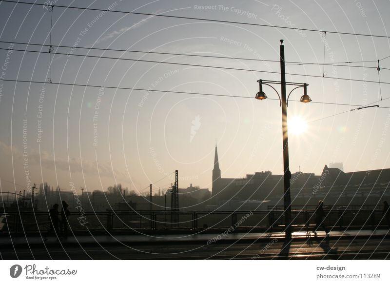 Sky City Blue White Sun Clouds Dark Black Architecture Graffiti Berlin Art Lamp Germany Design 2