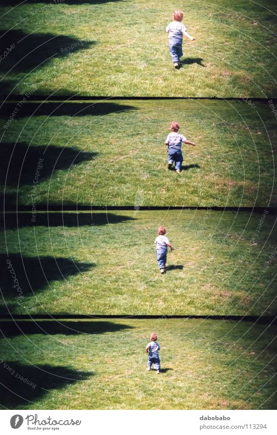 my baby run Action Photography Icon Lomography Joy Toddler child move movement shoot frame grass growth go reach arrive shadow