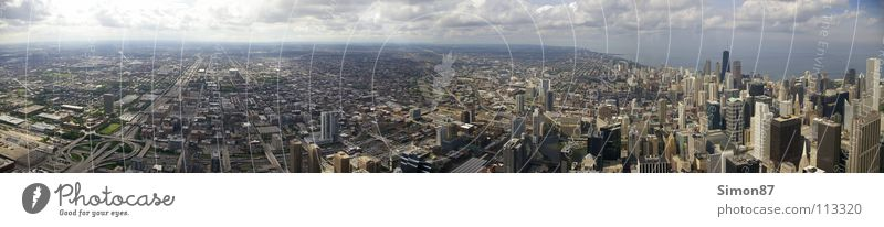 Far-off places High-rise Skyline Panorama (Format) Illinois Chicago Sears Tower