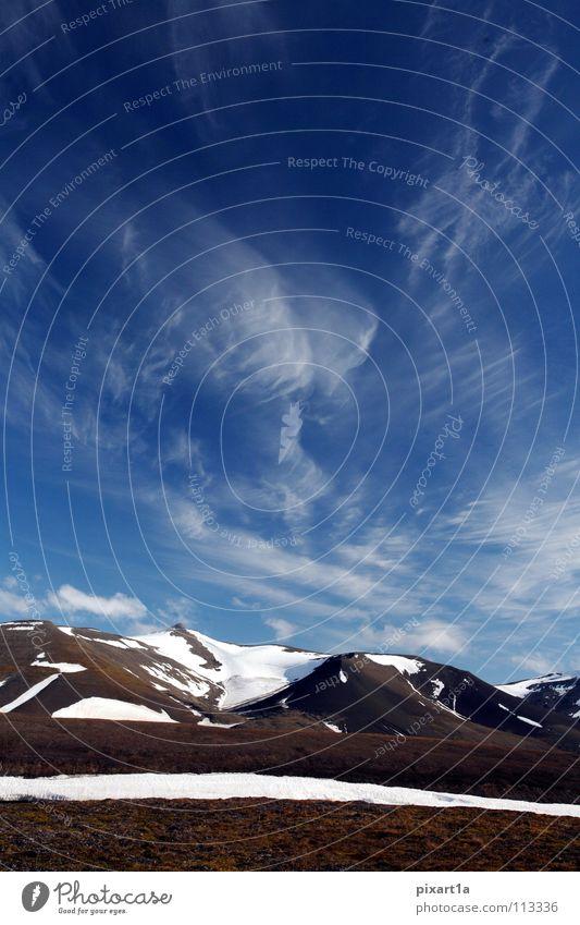 Sky Clouds Snow Mountain Europe Island Level Norway Spitzbergen