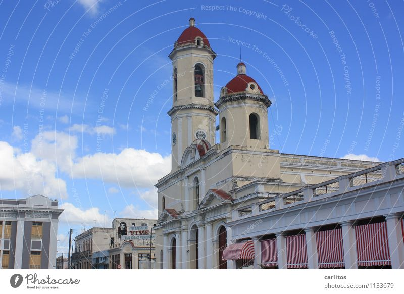 Nuestra Señora de la Purísima Concepción in Cienfuegos Vacation & Travel Old town Church Decline Havana Cuba Sun blind Wide angle