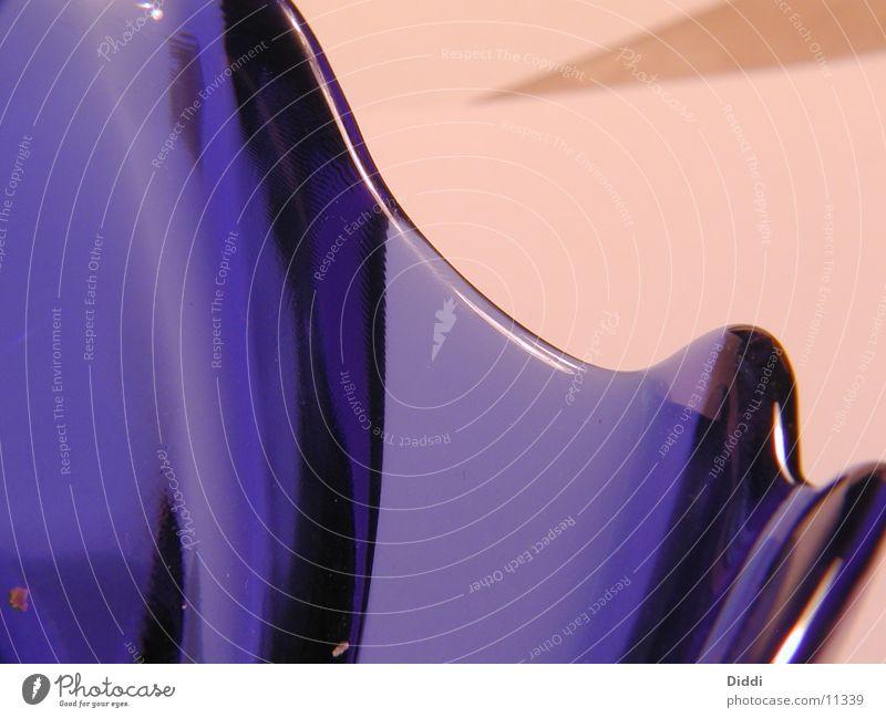 Blue Glass Curve Bowl Photographic technology