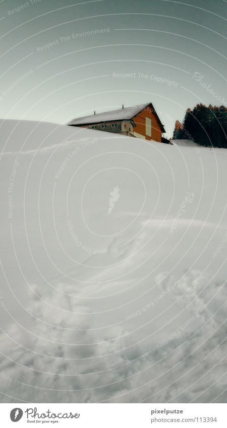 sunken in the snow Winter Snowscape Farm Switzerland Hermit Go under pixel cleaning Agriculture