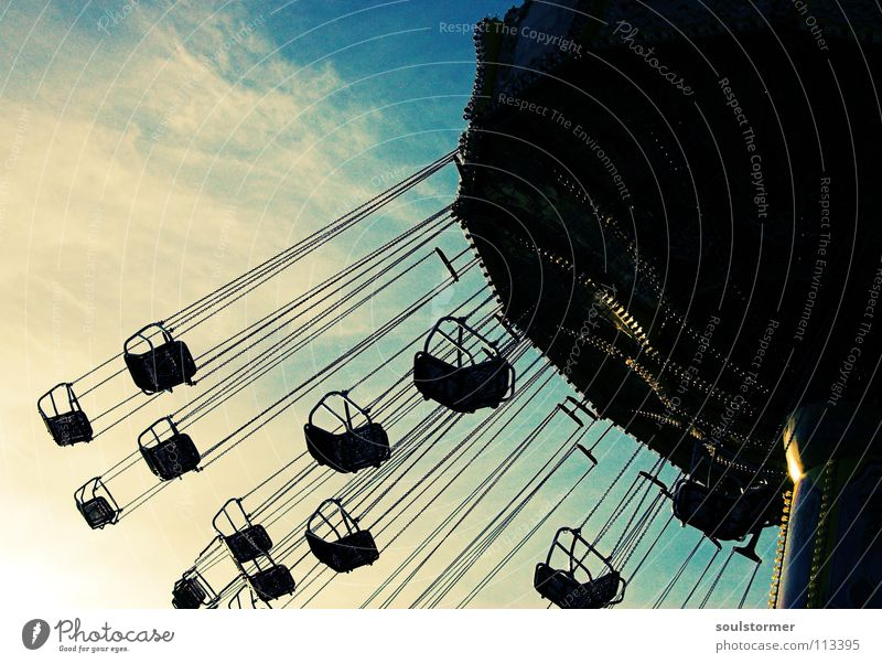 Sky Blue White Joy Clouds Black Dark Infancy Flying Rotate Fairs & Carnivals Seating Chain Dome Carousel Youth culture