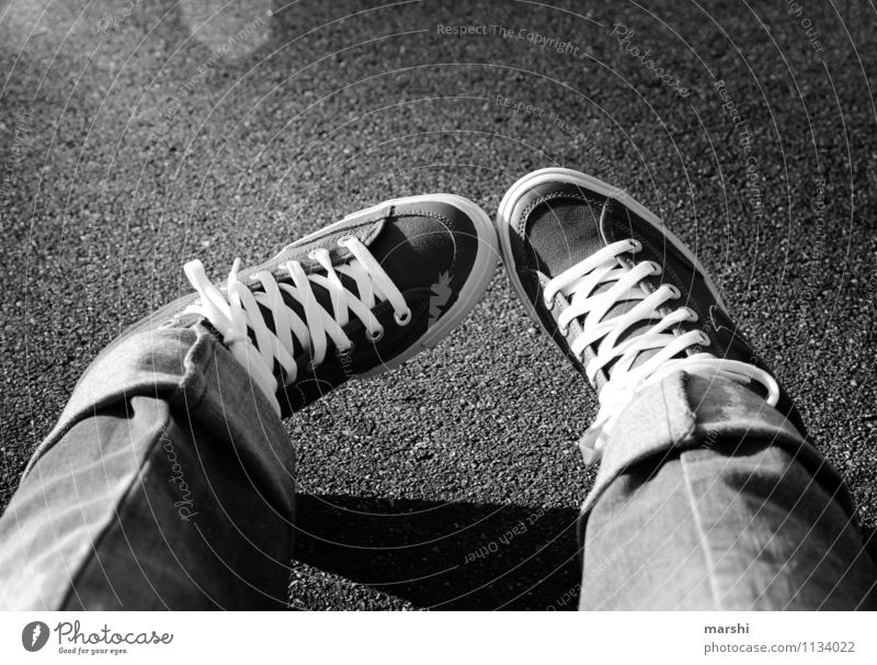 Relaxation Joy Style Moody Fashion Lifestyle Leisure and hobbies Footwear Clothing Concrete Athletic Jeans Skateboarding Pavement Easygoing Sneakers