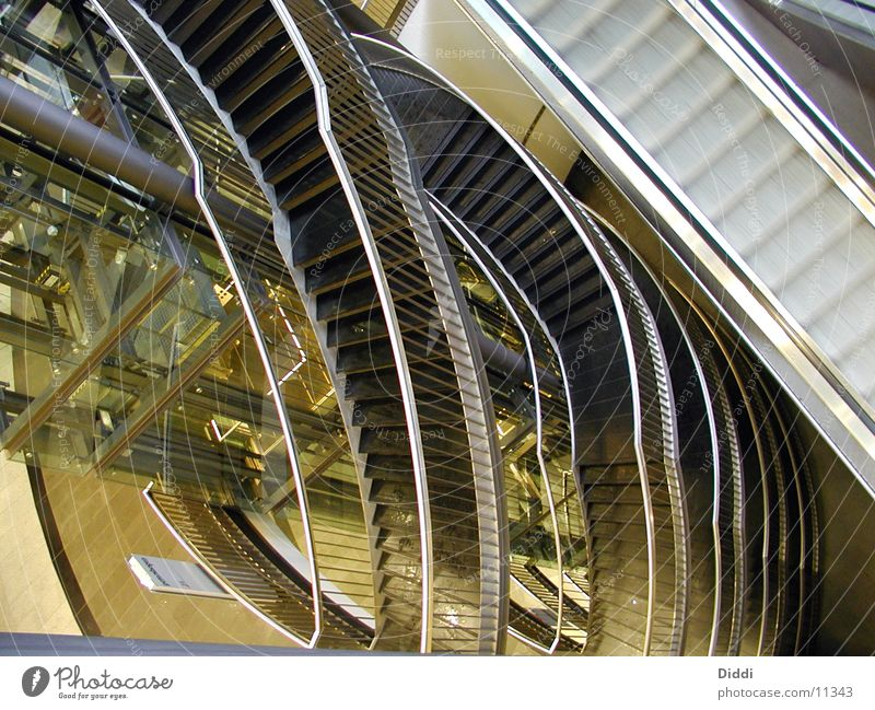 Stairs and lift Escalator Elevator Above Architecture Level as of Interior shot