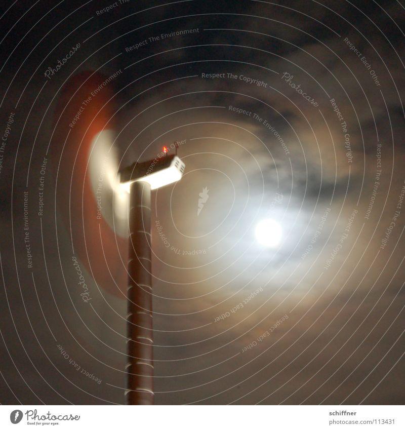 Sky Clouds Wind Industry Energy industry Wind energy plant Moon Rotate Rotor Full  moon Moonlight