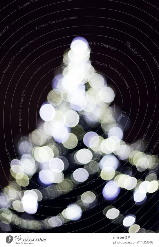 Christmas tree. Art Contentment Christmas & Advent Top of the Christmas tree Point Glittering Card Triangle Tree Fir tree Subdued colour Exterior shot