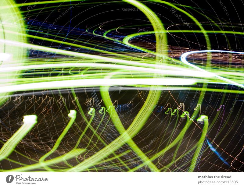 That was a long way home! SECOND Light Circle Point of light Yellow White Intoxicant Experimental Night Dark Black Crazy Playing Joy Long exposure Blur