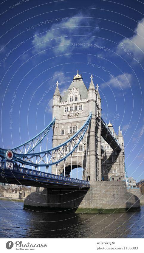 Tower Bridge. Art Esthetic London London marathon England Great Britain Blue sky Themse City trip Tourist Attraction Landmark Tourism Wanderlust