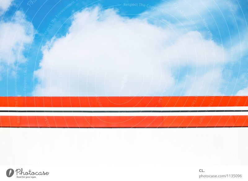 Sky Nature Blue White Summer Red Clouds Environment Wall (building) Building Wall (barrier) Weather Orange Climate Beautiful weather Stripe