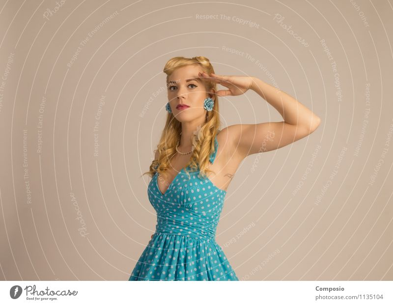 Aye aye neutral Lifestyle Style Beautiful Feminine Young woman Youth (Young adults) Woman Adults 1 Human being 18 - 30 years Dance Rockabilly To enjoy Wait Thin