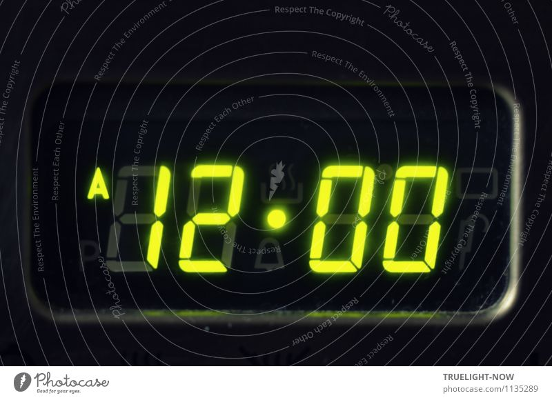 Green Black Time Elegant Clock Modern Glass Success Esthetic Technology Future Sign Cool (slang) Curiosity Digits and numbers Target