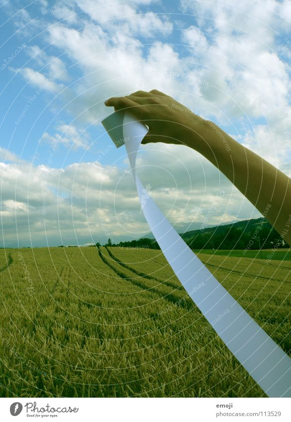 super usable photo!!! Paper Hand Field Cornfield Wheatfield Summer Spring Jump Autumn Clouds Sky Inscribe Media Communicate Letters (alphabet) Characters String