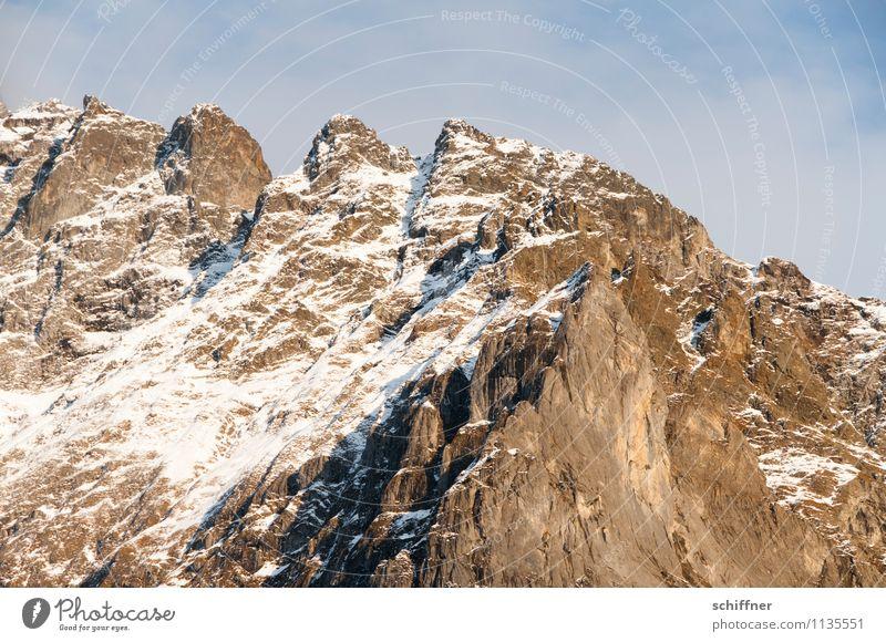 Oh, squeak, squeak, squeak! Nature Beautiful weather Ice Frost Snow Rock Alps Mountain Peak Snowcapped peak Cold Alpine Mountain range Prongs Fence