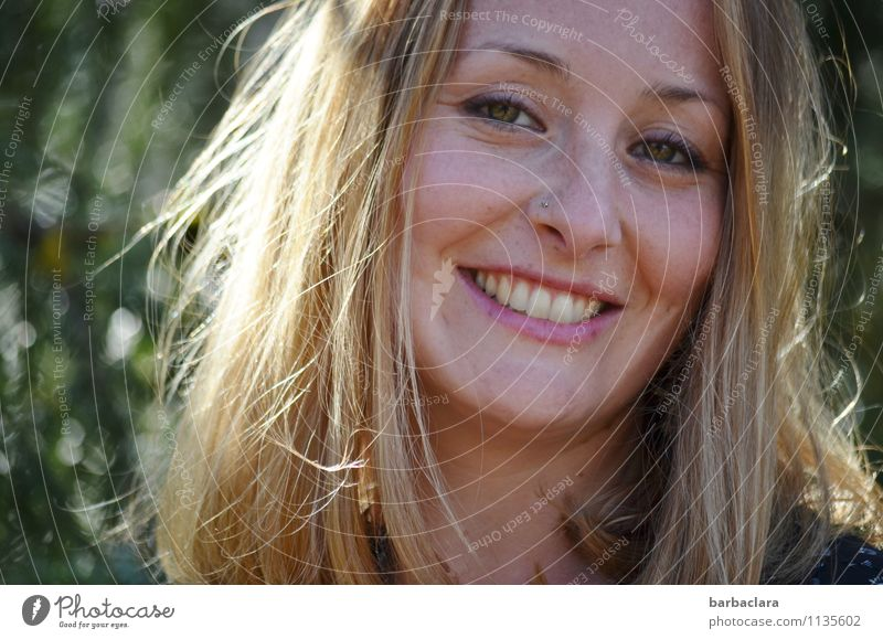 Human being Woman Nature Joy Adults Emotions Laughter Blonde Joie de vivre (Vitality)