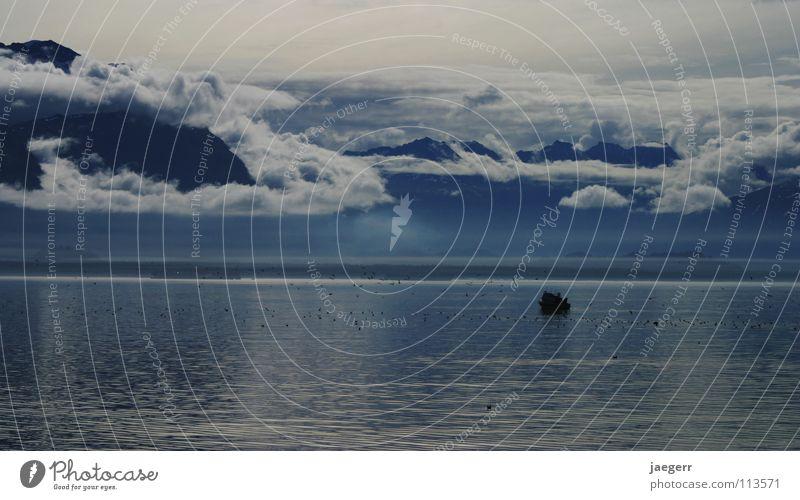 arctic blue Alaska Mystic Fishing boat Ocean Mountain Valdez Prince William Sound Landscape Sea Lake Ice Blue