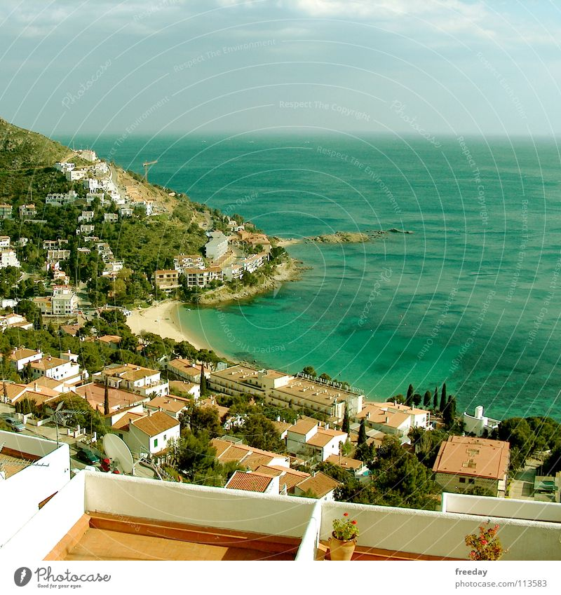 ::: Costa Brava ::: Spain Flat (apartment) Vacation & Travel House (Residential Structure) Calm South Physics Background picture White Balcony Romance Town