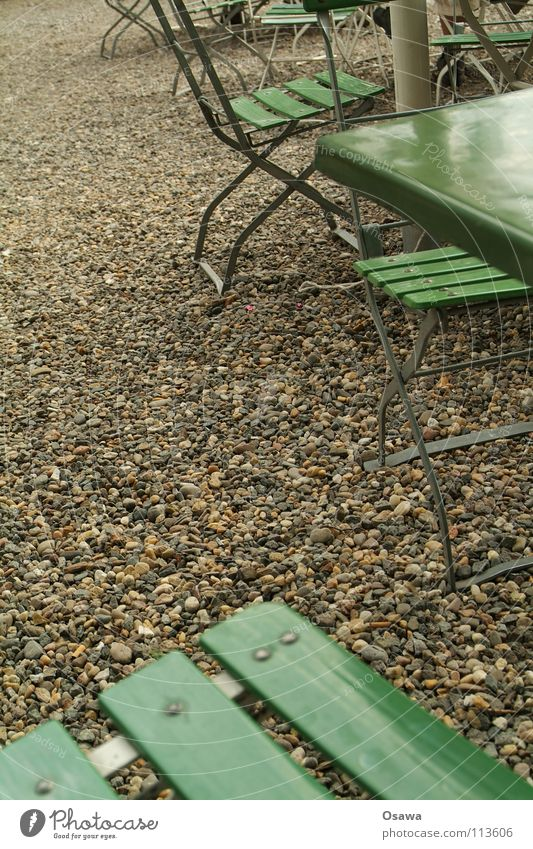 beer garden Table Gravel Beer garden Furniture Folding table Green Summer Gastronomy Chair Camping chair semicortical