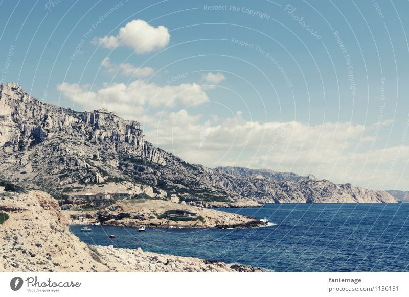 Sky Nature Water Ocean Landscape Clouds Far-off places Mountain Environment Warmth Spring Coast Rock Waves Earth Wind