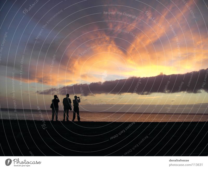 Sunset Ocean Vacation & Travel Relaxation Beach Gomera Curiosity Take a photo Summer Panorama (View) Beautiful