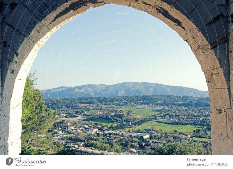 Provence Environment Nature Landscape Sky Cloudless sky Beautiful weather Village Vantage point Mediterranean allauch Mountain Archway Tree Marseille